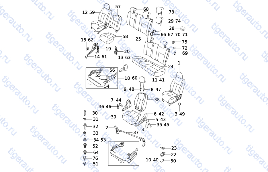 SEAT ASSY Chery Very (A13A)