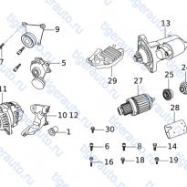 Каталог ENGINE ELECTRICAL ACCESSORY Chery Very (A13A)