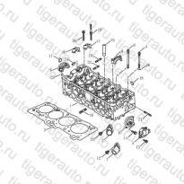 Каталог Головка блока цилиндров (EURO-3) Geely MK08