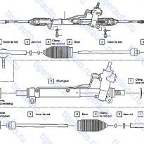 Каталог POWER STEERING GEAR Luxgen 7 SUV