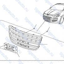 Каталог FRONT GRILLE Luxgen 7 SUV