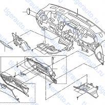Каталог INSTRUMENT PANEL, PAD & CLUSTER LID Luxgen 7 SUV