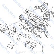 Каталог INSTRUMENT PANEL, PAD & CLUSTER LID (2) Luxgen 7 SUV