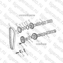 Каталог Распредвал, ремень, ролик (EURO-3) Geely MK Cross