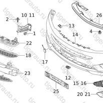 Каталог RR BUMPER SYSTEM  Chery Tiggo 5 (T21)