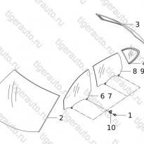 Каталог GLASS ASSY  Chery Tiggo 5 (T21)