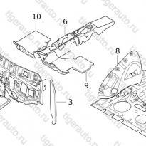 Каталог ABSORBING PAD GASKET  Chery Tiggo 5 (T21)