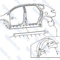 Каталог BODY SIDE FITTING Luxgen 7 SUV