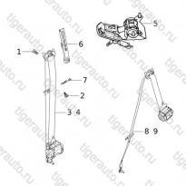 Каталог SEAT BELT SYSTEM  Chery Tiggo 5 (T21)