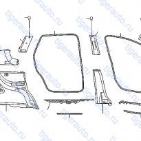 Каталог BODY SIDE TRIMMING Luxgen 7 SUV