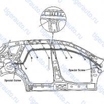Каталог BODY SIDE TRIMMING (2) Luxgen 7 SUV