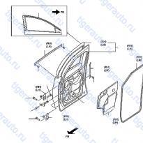 Каталог FRONT DOOR PANEL & FITTING Luxgen 7 SUV