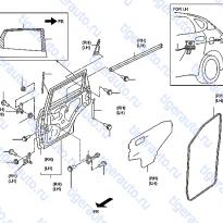 Каталог REAR DOOR PANEL & FITTING Luxgen 7 SUV