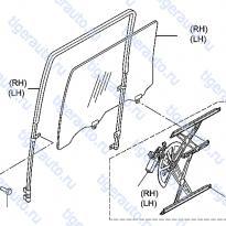 Каталог REAR DOOR WINDOW & REGULATOR Luxgen 7 SUV