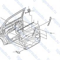 Каталог REAR DOOR TRIMMING Luxgen 7 SUV