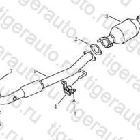Каталог FRONT EXHAUST PIPE Geely Emgrand EC8