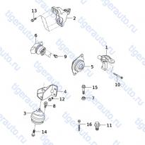 Каталог ENGINE MOUNTING SYSTEM Chery Very (A13A)