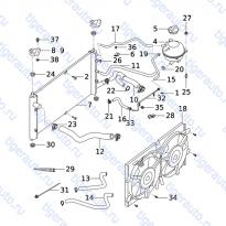 Каталог COOLING SYSTEM Chery Very (A13A)