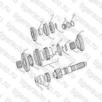 Каталог Вторичный вал (JL-S160A) Geely MK08