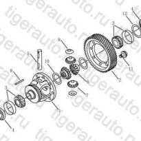 Каталог DIFFERENTIAL Geely Emgrand EC8