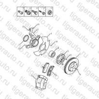 Каталог Передние тормоза Geely MK08