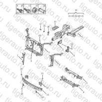 Каталог Передняя часть кузова Geely MK08