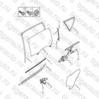 Каталог REAR DOOR GLASS Geely Emgrand X7