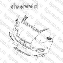 Каталог FRONT BUMPER Geely Emgrand X7