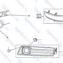 Каталог TURN SIGNAL LAMP Luxgen 7 SUV