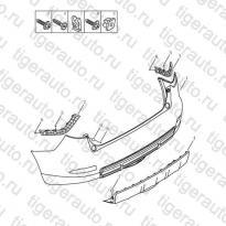 Каталог REAR BUMPER Geely Emgrand X7