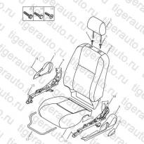 Каталог Элементы переднего сидения Geely MK Cross