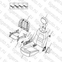 Каталог RF SEAT CUSHION & BACK Geely Emgrand X7