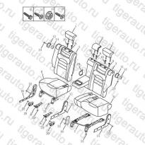 Каталог MIDDLE SEAT CUSHION & BACK Geely Emgrand X7