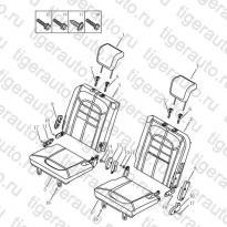 Каталог REAR SEAT CUSHION & BACK Geely Emgrand X7