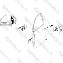 Каталог Замки, петли, ручки передней двери Lifan Cebrium